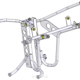 Front Sub-Frame Assembly + Fasteners