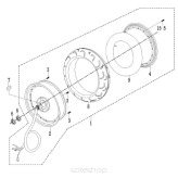 Motor/Rear wheel assy