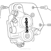 Brake Mounting Kit - caliper fasterners